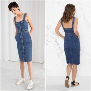 & Other Stories Fitted Denim Dress